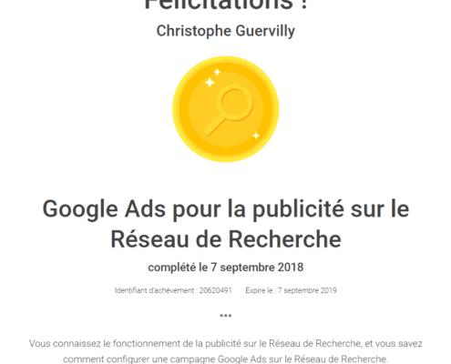 Google Ads pour la publicité de rechercher